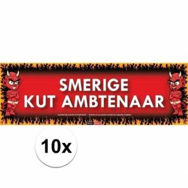 10x sticky devil stickers tekst smerige kut ambtenaar