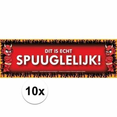 10x sticky devil stickers tekst spuuglelijk