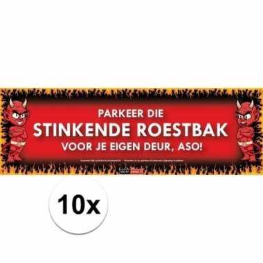 10x sticky devil stickers tekst stinkende roestbak