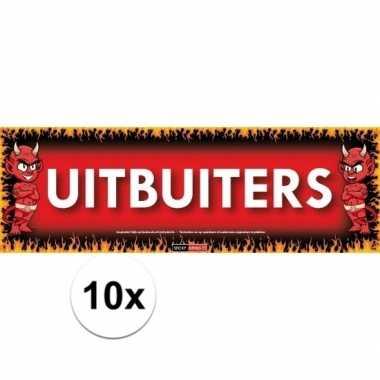 10x sticky devil stickers tekst uitbuiters