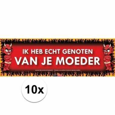 10x sticky devil stickers tekstik heb echt genoten van je moeder