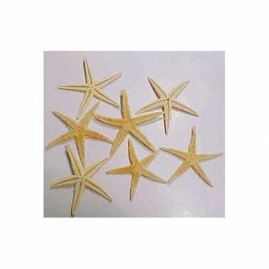 10x stuks decoratieve zeesterren 10 cm