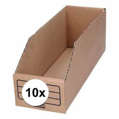 10x stuks garage/schuur opslag/sorteer bakjes 10 x 30 cm