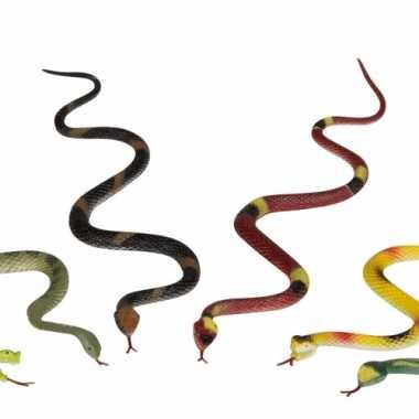 10x stuks gekleurde plastic slangen 35cm