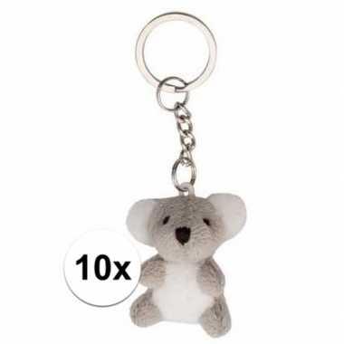 10x stuks tas sleutelhangers koala beertje 6 cm