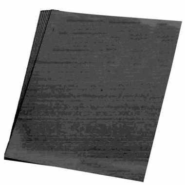 10x stuks vellen karton zwart 48x68 cm