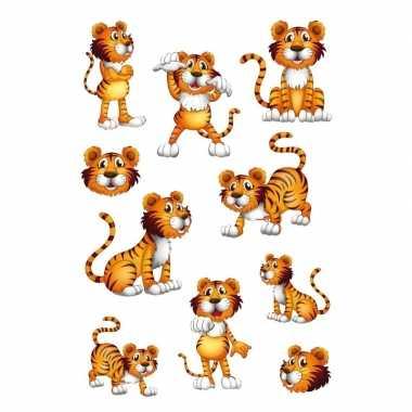 10x tijger stickertjes voor kinderen