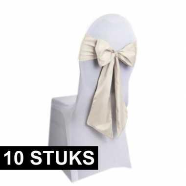 10x trouwerij stoeldecoratie sjerp creme