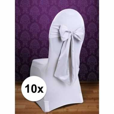 10x trouwerij stoeldecoratie sjerp wit