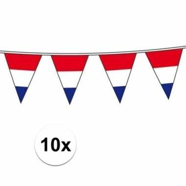 10x vlaggenlijn hollandse vlaggetjes
