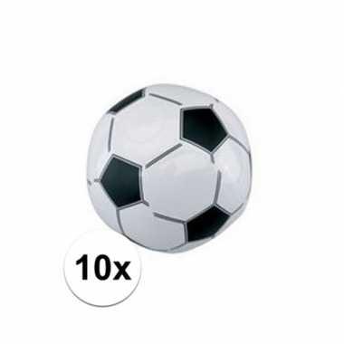 10x voetbal strandballen 30 cm
