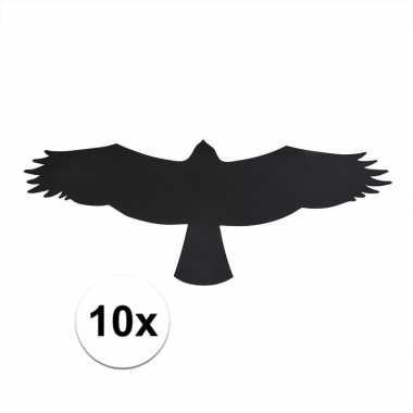 10x vogel raamstickers / anti inslag stickers 'buizerd' 14 cm