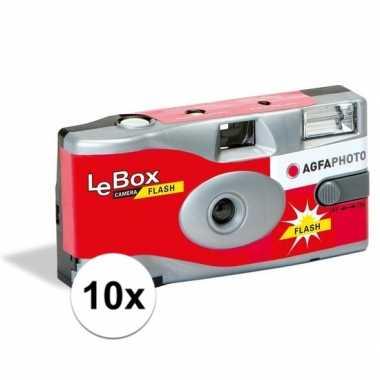 10x wergwerpcameras/fototoestellen 27 kleurenfotos flits