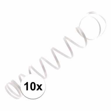 10x wit ballon lint 1,5 meter