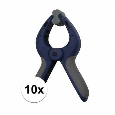 10x zeilklem / zeilclip van kunststof 4 inch