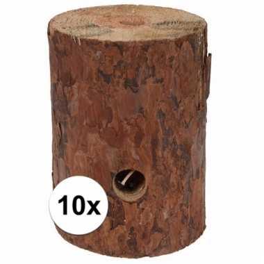 10x zweedse fakkel kaars 20 cm