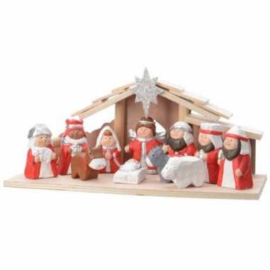 11 figuren in kerststal 32 cm
