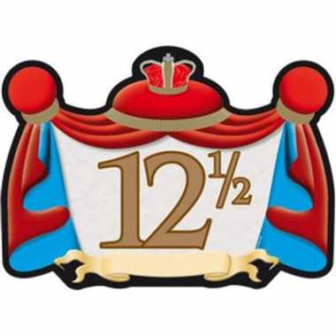 12,5 jaar jubileum huldebord