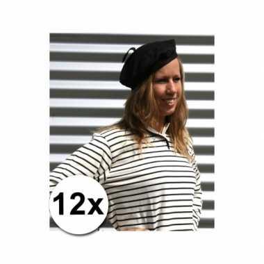 12 goedkope baretten volwassenen 59cm