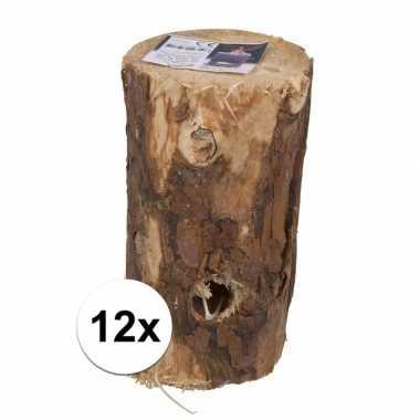 12 stuks zweedse fakkel kaars 20 cm