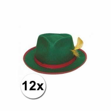 12 tiroler hoeden groen