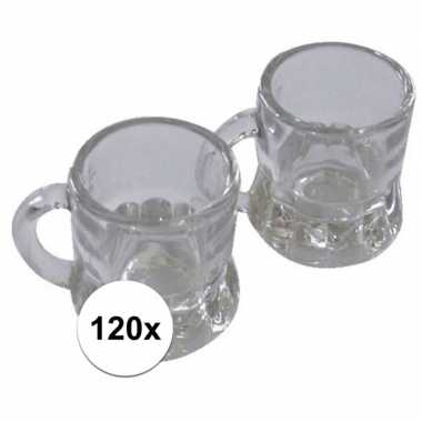 120x mini bierglas met handvat 20 ml