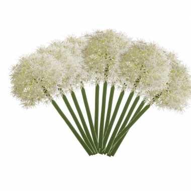12x allium kunstbloem wit 65 cm
