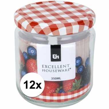 12x bewaar pot 350 ml met draaideksel