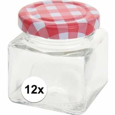 12x bewaar potje 75 ml met draaideksel