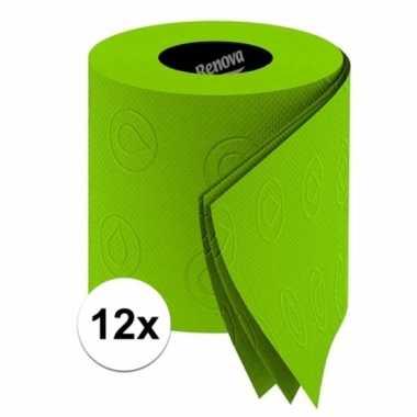 12x groen toiletpapier