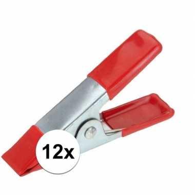 12x marktkraam klemmen 10 cm