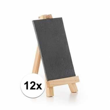 12x menu krijtbordjes op voet 20 cm