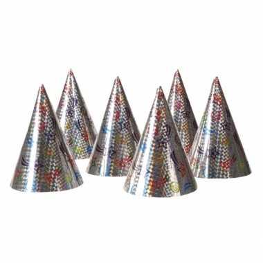 12x papieren feesthoedjes