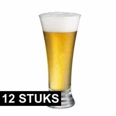12x pilsener tap / fles bierglazen 340 ml