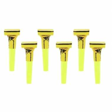 12x roltongen in de kleur goud