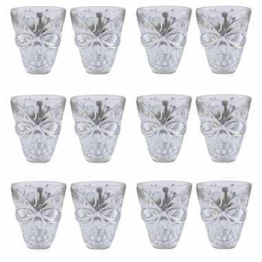 12x shotglas met doodshoofd
