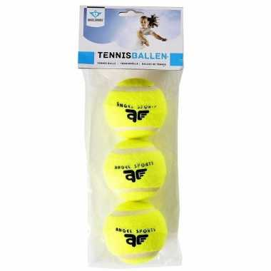 12x speelgoed tennisballen voor honden