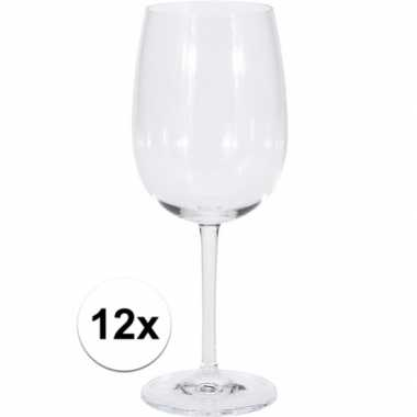 12x stuks grote rode wijn glaasjes/glazen