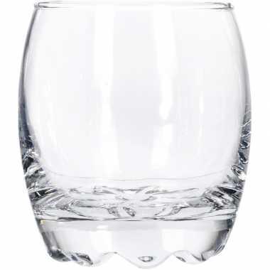 12x whisky/whiskey glazen van glas