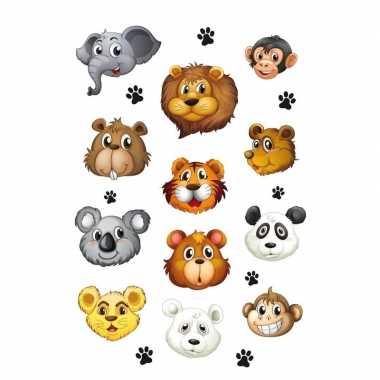 12x wilde dieren stickertjes voor kinderen