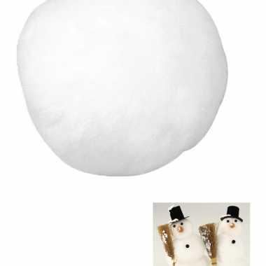 12x witte sneeuwbal 7,5 cm