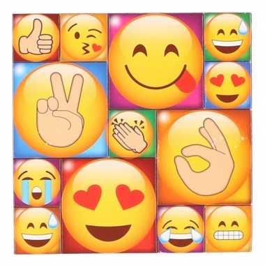 13x koelkast magneten emoji smileys/emoticons type 4