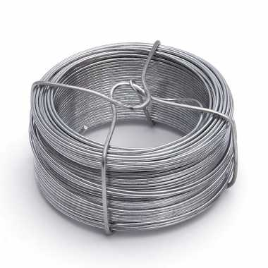 1x stuks ijzerdraad / binddraad / binddraden staal verzinkt 1,3 mm x 50 m