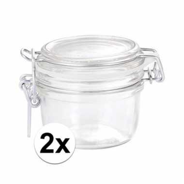2 glazen keukenpotten 125 ml