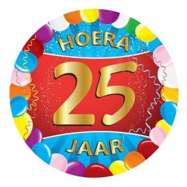 25 jaar verjaardag party viltjes   pchoofdstraat.nl