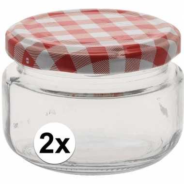 2x bewaar pot 140 ml met draaideksel