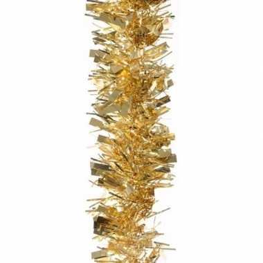 2x kerstboom folie slinger goud 200 cm
