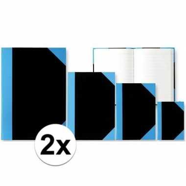 2x notitieboekjes a5 formaat harde kaft