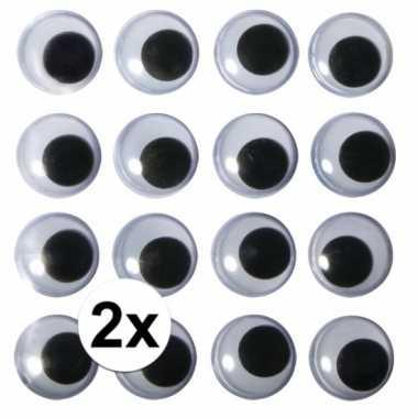 2x zakjes hobby artikelen oogjes 15 mm
