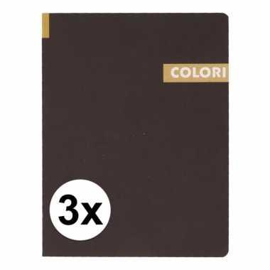 3 notitieboekjes b5 96 gele vellen